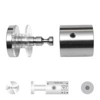 RVS verstelbare glashouder Confix5 met platte kop diameter 9 mm.