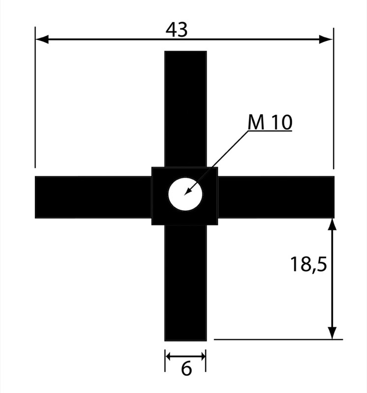 Irus system leg 1500 mm