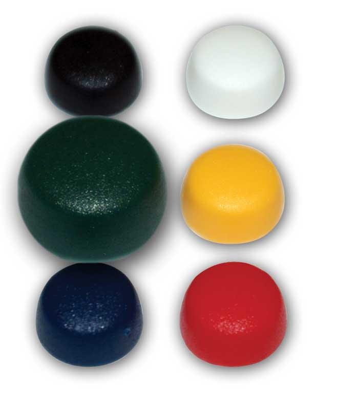 Casquette vert de diamètre 12.2 / 10.8 mm