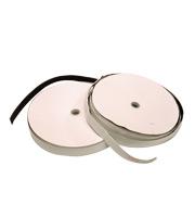 Zelfklevend klittenband zwart 25 mm lus