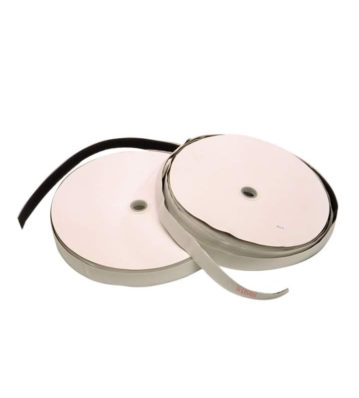 Brand loop fastening tape black 25 mm acrylic adhesive