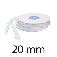 Velcro autocollant, largeur 20 mm, crochet, blanc