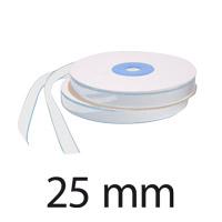 Velcro autocollant, largeur 25 mm, crochet, blanc
