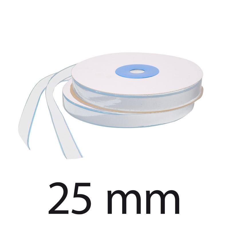 25 mm boucle Velcro Blanc