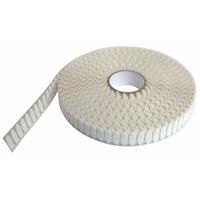 Oval fastening tape 35 x 12 mm white