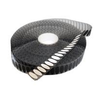 Klittenband ovaaltjes 35 x 12 mm zwart