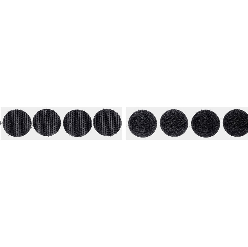 Brand loop fastening tape round 19 mm black