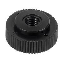 Plastic knurled nut M4, black