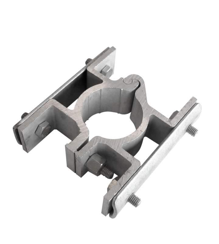 Alu-hingeclamp (pole) double-sided
