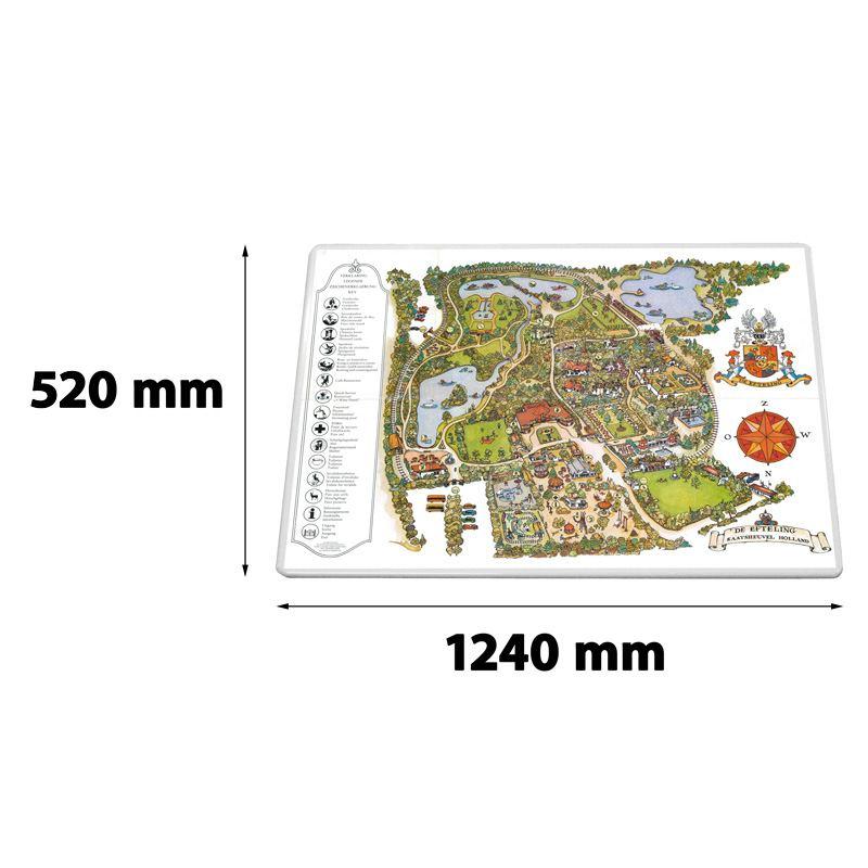 Verkeersbord rechthoek 1240 x 520 mm