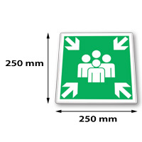 Traffic sign square 250 x 250 mm