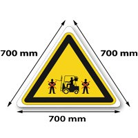 Traffic sign triangle 700 x 700 x 700 mm