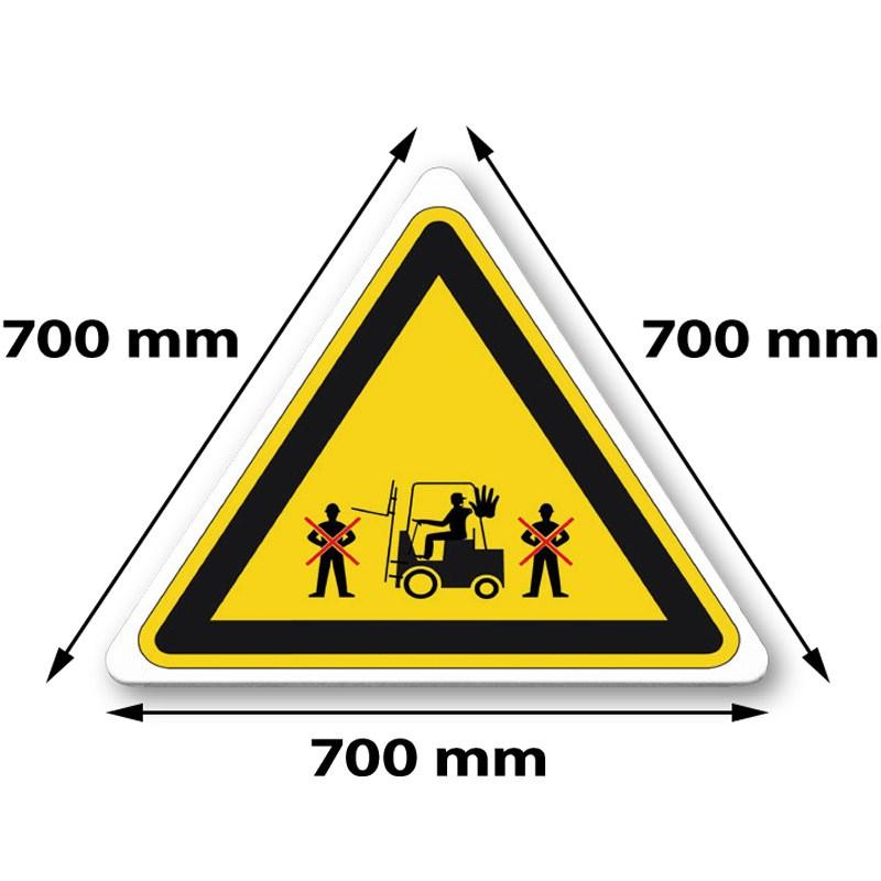 Traffic sign triangle 700 x 700 x 700 mm