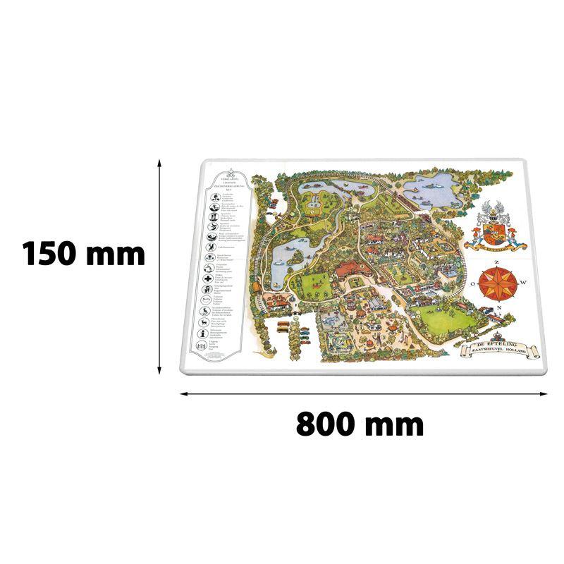 Verkeersbord rechthoek 800 x 150 mm een zijde wit