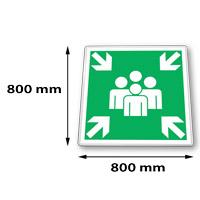 Verkeersbord vierkant 800 x 800 mm Ral 9016