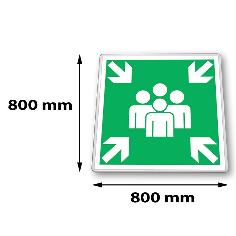 Traffic sign square 800 x 800 mm RAL 9016