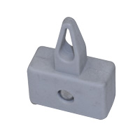 Ceiling magnets 27 x 13 mm grey