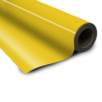Magnetic foil yellow 0 6 x 615 mm