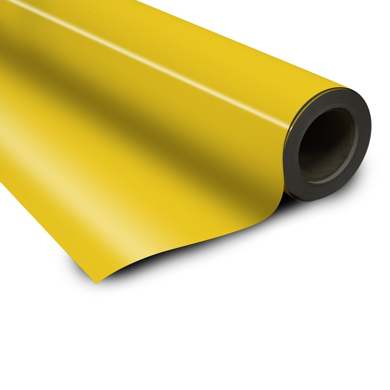 Magnetic foil yellow 0 85 x 615 mm