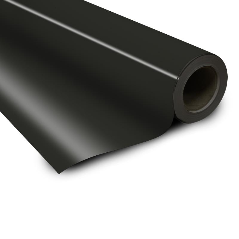Feuille de couleur noire magnétique 0,85 x 615 mm x 30000 mm