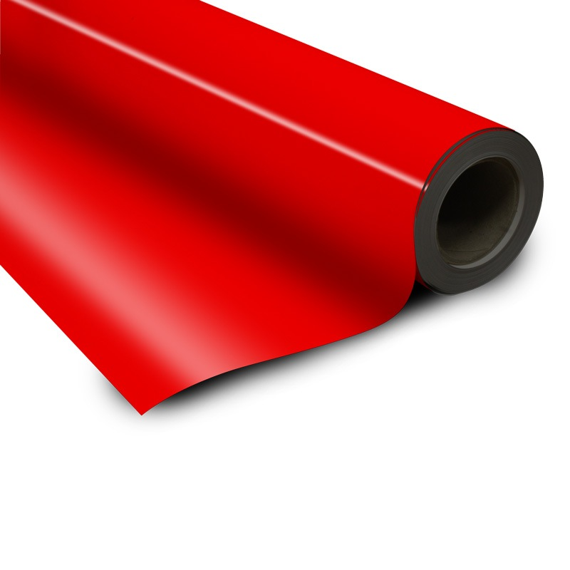 Magnetic foil red 0 85 x 615 mm