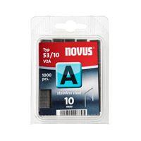Novus dundraad nieten A 53 10 mm 1000 st. RVS