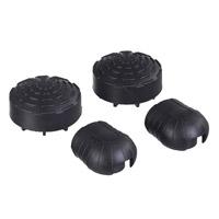 Telesteps Rubber voetjes 76 mm, black Pin pack