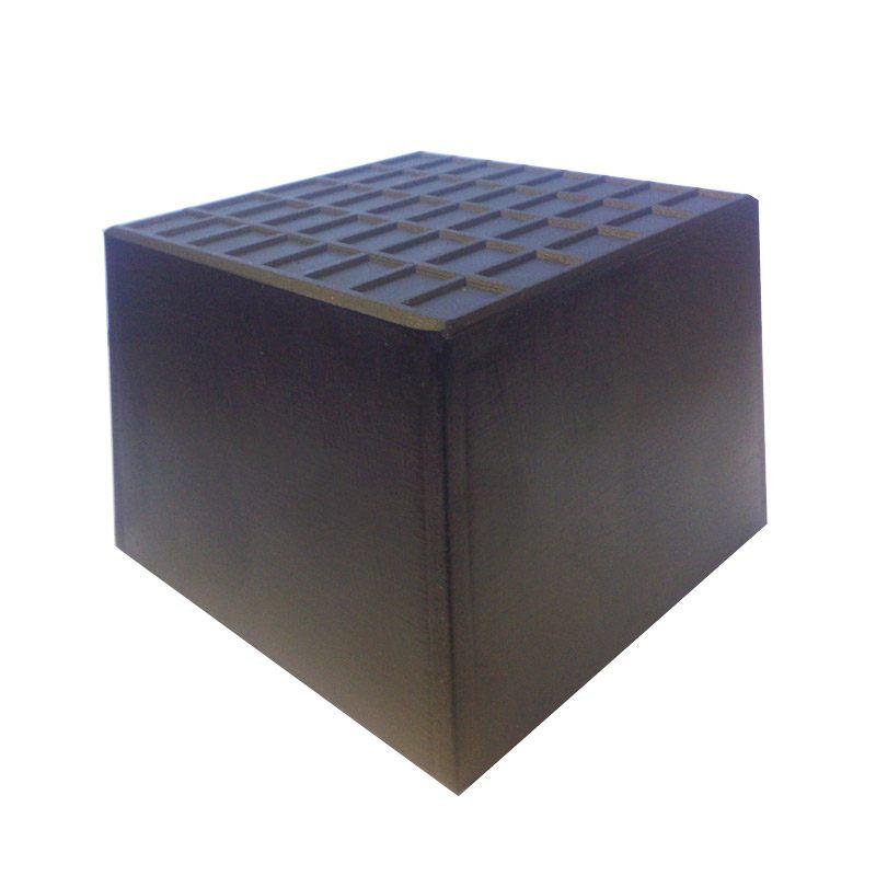 Caoutchouc de bloc de voiture 120/100 x 120/100 x 75 mm