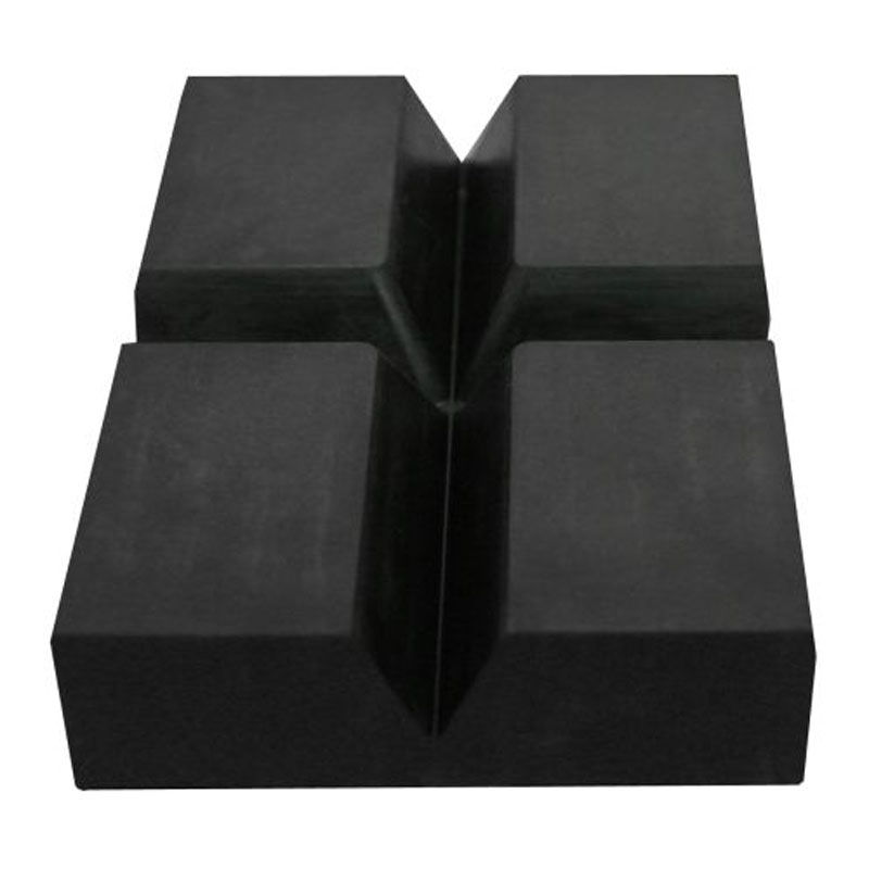 Autoblok rubber rond 150 x 100 x 30 mm