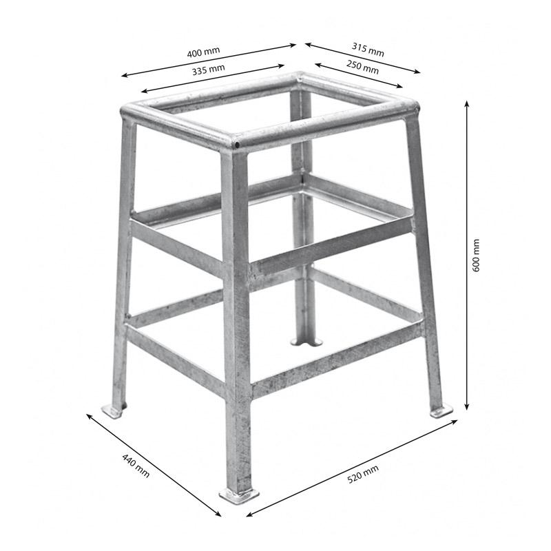 Wheel chock 60 x 40 x 30 cm