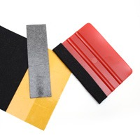 Felt strips set of 10 for soft and hard squeegees
