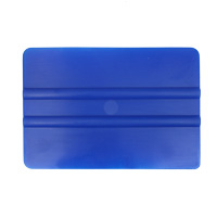 Squeegee soft plastic with smooth edge, blue