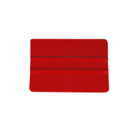 Squeegee hard plastic with smooth edge, red