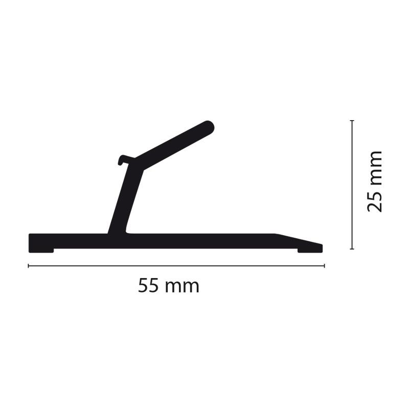 Aluminum cutting ruler, length 500 mm