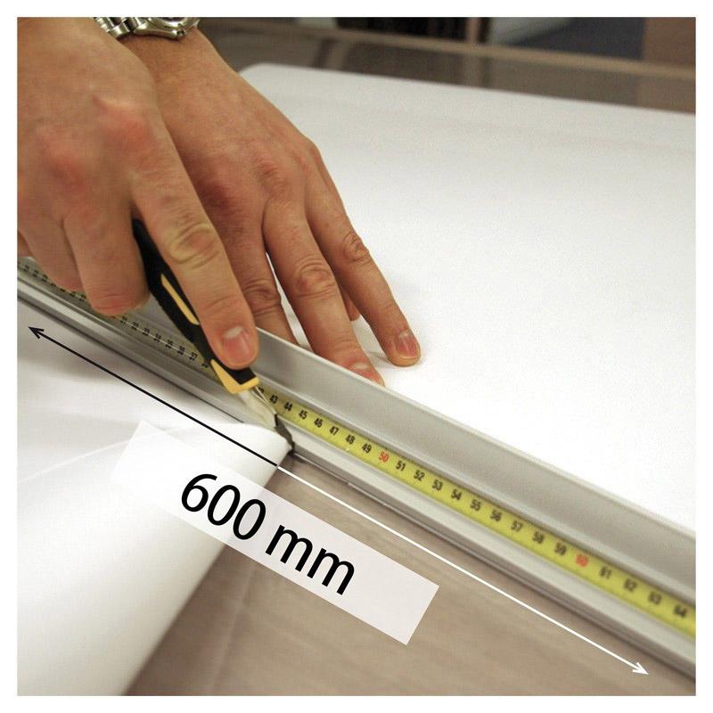 Aluminum cutting ruler, length 600 mm