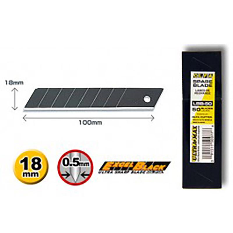 Spare blade Excel Black 18 mm, LBB-50
