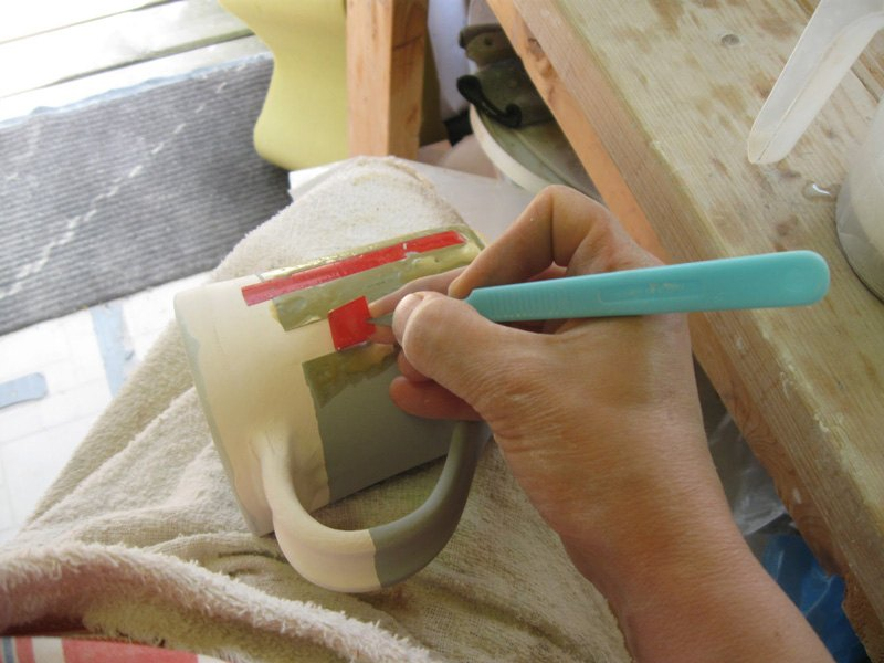 Scalpel in plastic holder number 10