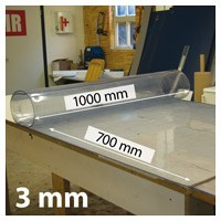 Snijmat zacht, breed 1000 mm, lang 700 mm, 3 mm dik