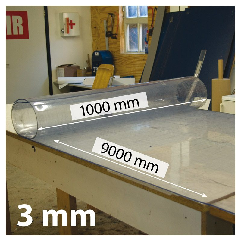 Snijmat zacht, breed 1000 x 9000 mm, 3 mm dik