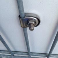 Tension rod holder stainless steel U 8mm