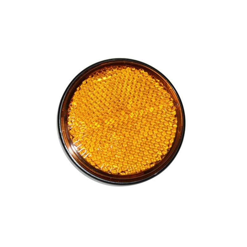 Réflecteurs jaunes ronds 60 auto-adhésifs