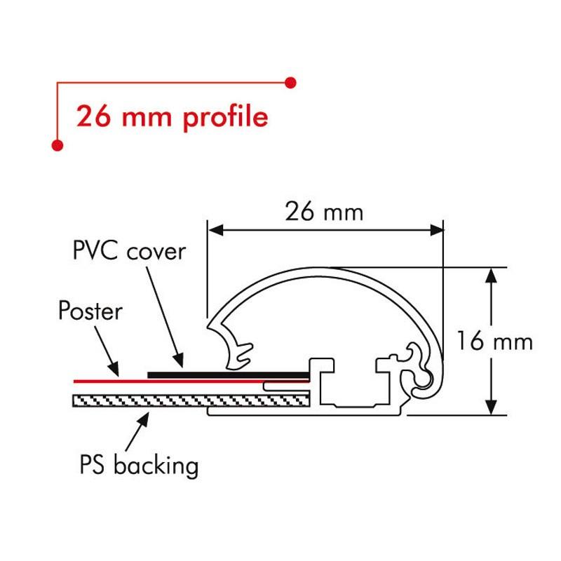 26 mm aluminium profile length 3 m