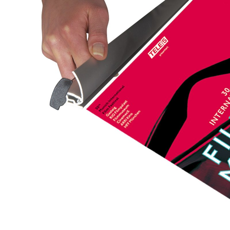 Pince d,affiche profil (quickbanner) longeur 3000 mm