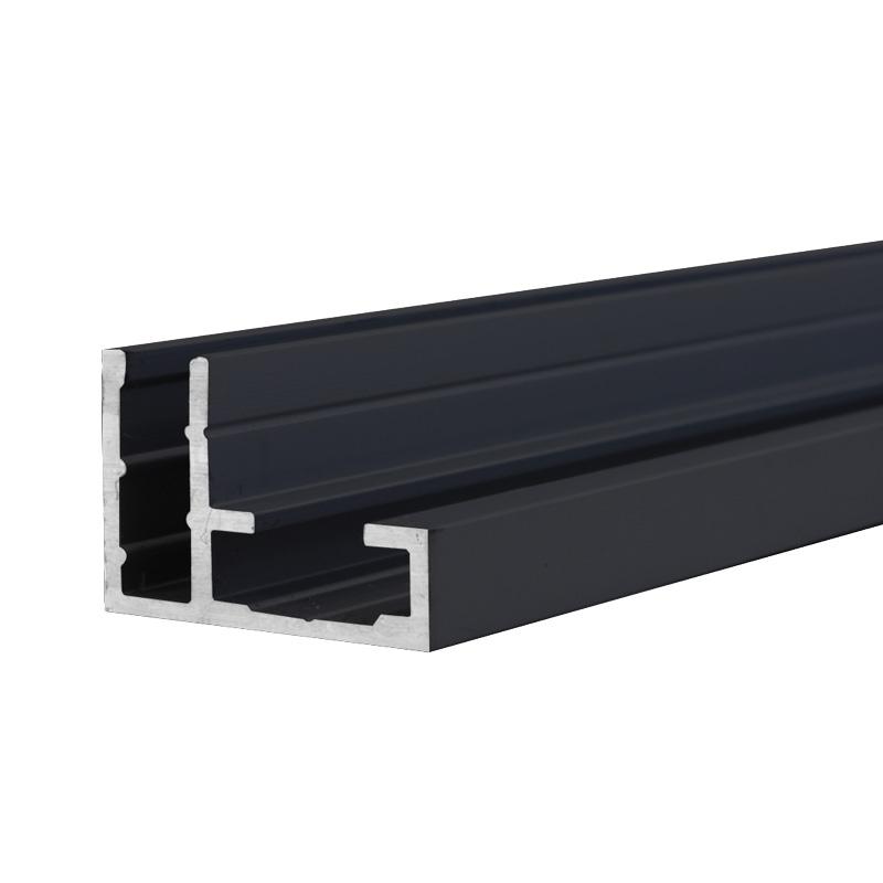 Valet profiel enkelzijdig maxi zwart 15 x 22 mm 3 meter