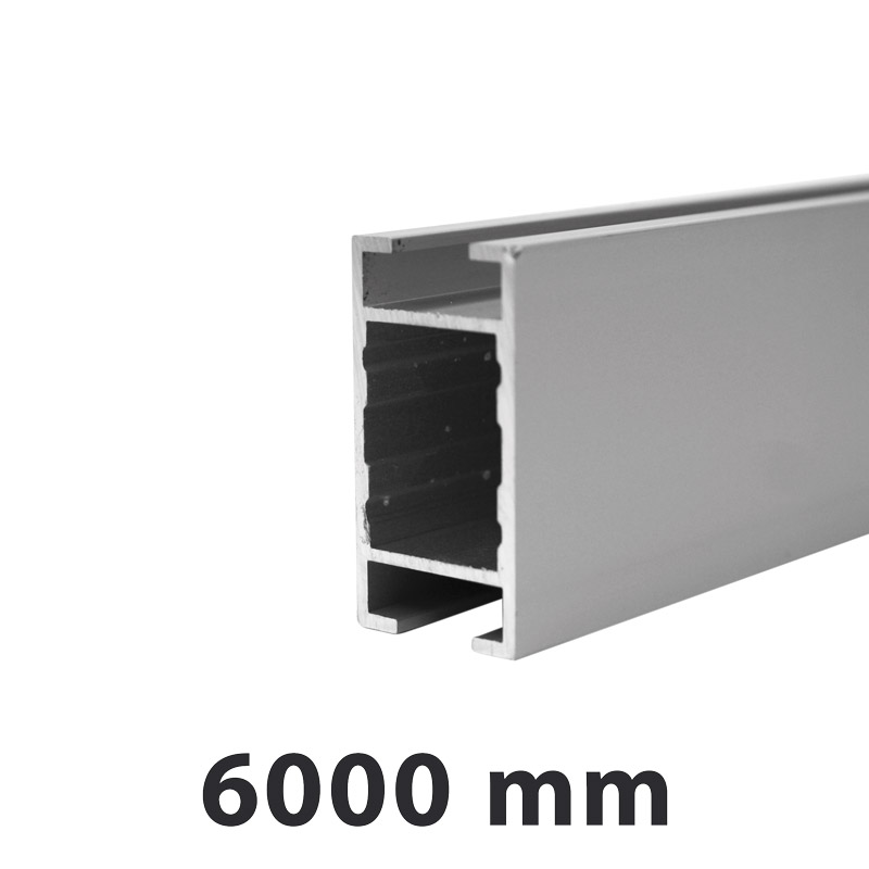 H-profile for Maxi Frames 36 x 19 mm 6 meter