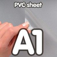 Transparant PVC sheet A1 0,4 mm Anti Reflex 594 x 841 mm
