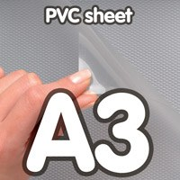 Transparant PVC sheet 0,5 mm Anti Reflex 420 x 297 mm A3.