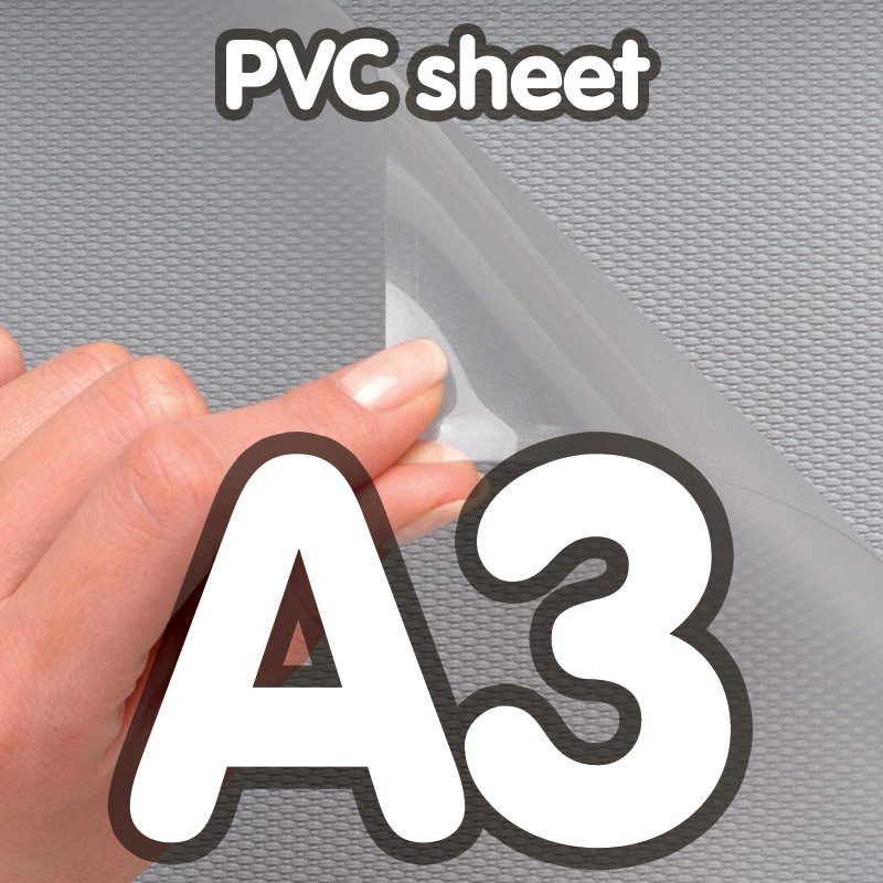 Pvc cover 0 5 mm anti-reflection A3