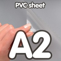 Transparant PVC sheet 0,5 mm Anti Reflex 420 x 594 mm A2.