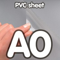 Transparant PVC sheet 0,5 mm Anti Reflex 841 x 1189 mm A0.